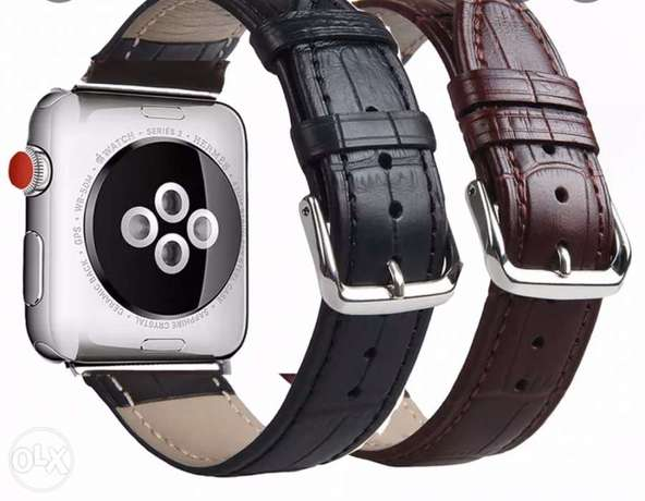 Leather band strap for Apple watch
