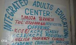 Umoja3 Kwa Maji Adults School for KCSE and KCPE Tuition in Umoja