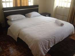 Fully furnished apartment 3 bedroom two en suite to let in Kilimani
