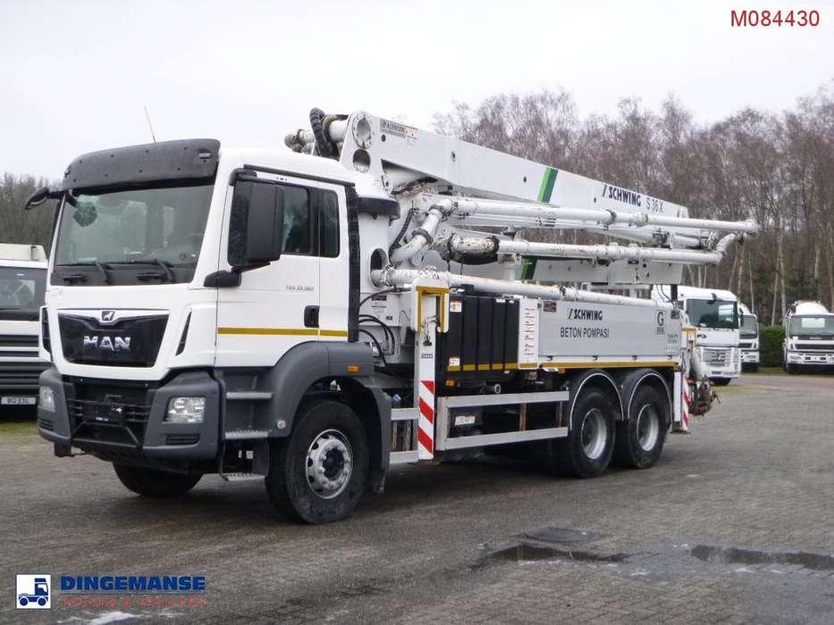 MAN TGS 33.360 6X4 Euro 6 Schwing S36X concrete pump - 2016