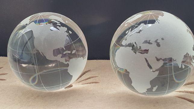 Szklana Kula Mapa świata Globus Dekoracja Przycisk Do