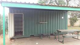6 meter tuck/spaza shop or business container
