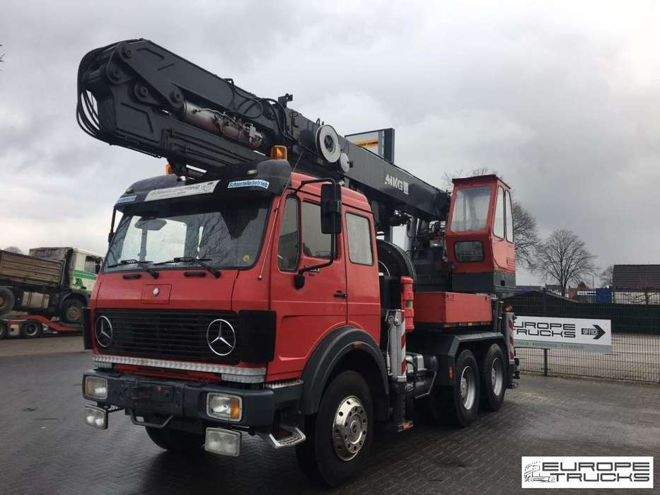 Mercedes-Benz 2633K V8 - German Truck - Crane MKG - 1984