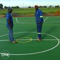 we start basketball netball volleyball tennis courts from ground