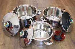 Rolux stainless steel heavy duty cookware set 8 pieces brand new