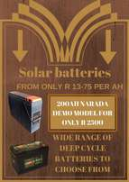 Solar batteries on sale From only R 13-75/ amp
