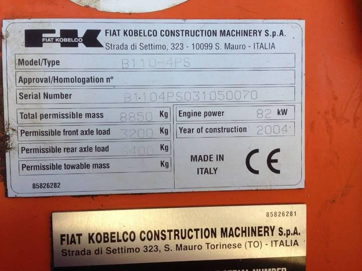 FIAT KOBELCO B 110 - 2004 - image 8