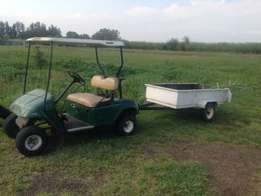 Ez-go Petrol Golf cart with trailer