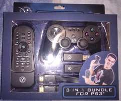 New PS3 Wireless Controller (3 in 1 Bundle)