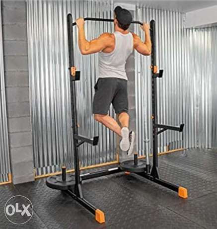 Fitness Alpha2000 Squat Stand, Exercise Rack with Barbell Holder