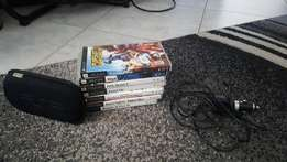 PSP + 7 games+ car charger