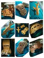 Amazing wooden Ancient vintage cars and aeroplane model