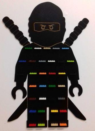 Półka Regał Ninjago Na Klocki Ludziki Figurki Lego Czarna