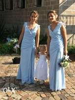 2 x blue bridesmaid/ evening dress size 30_32