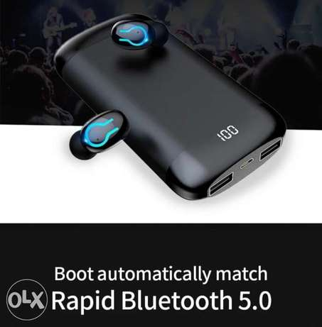 Bluetooth earphone Q66 with power bank الرياض -  5