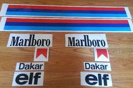 1985 R80 GS Paris Dakar Marlborough decals sticker kit