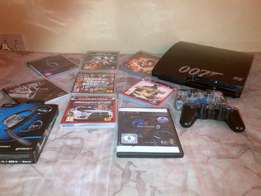 Ps3 320gig + ps3 online headset + 8 games + 2 controls