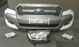Ford Ranger T7 Bumper with Grille, foglights and Rhs Xenon Headlight f