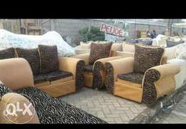 Offer on 8 sitter brown sofa