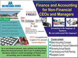 Free Accounting for Non-Accountants Training - Abuja