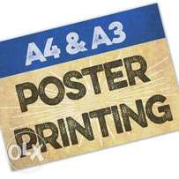 Best deal on A3 and A4 poster printing.