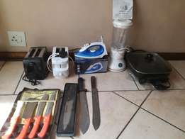 Kitchen Appliances and butcher/kitchen knifes - various from R230