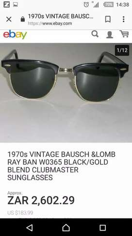 63e4f811bd66 Ray-Ban Bausch   Lomb USA Clubmaster WO365