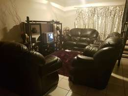 Genuine Leather Brown Couches