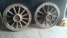 Wooden wagon wheels