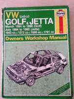 Owners Workshop Manual VW Golf & Jetta 1984 to 1990