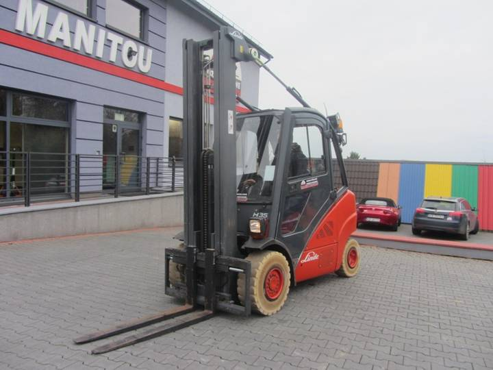 Linde H35T TRIPLEX ,Side shift - 2007