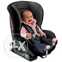 Krokki 0-4years baby car seater with armrest for safety and comfort of