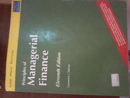 Principles of managerial finance Book.