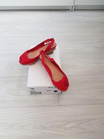 d27157a7 Czerwone buty na koturnie Aldo 37 Wrocław Krzyki • OLX.pl