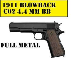2500COLT 1911 Full Metal CO2 Blowback Pistol 4.5MM Steel BB