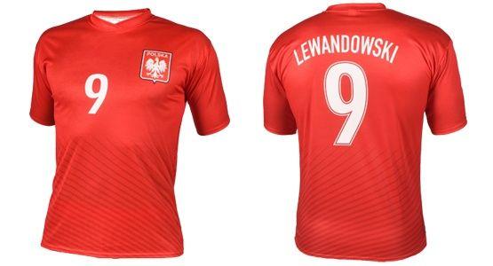 1f1b58151 OKAZJA koszulka strój kibica piłkarska LEWANDOWSKI czerwona SUPER CENA Ruda  Śląska - image 1