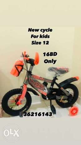 """New arrival cycle for kids size 12"""" orange color"""