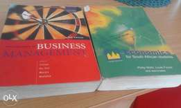 Business management book 6th and Economics third edition