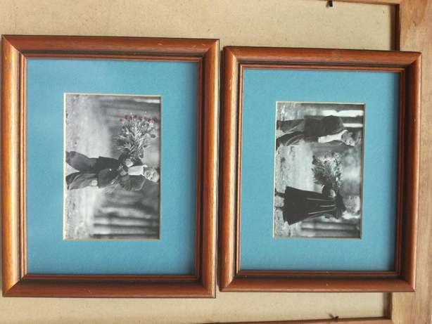 Frame With Glass & Classic Boy And Girl Pictures With Blue Background Kempton Park - image 2