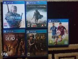 The witcher 3, Shadow of Modor , The walking dead 1 and 2, FIFA 15