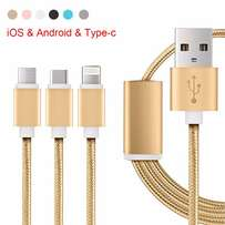 3 in 1 Charger Multi USB Type-C Charger, IOS , Android , Type-C