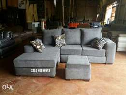 2 seater + Lounge l seat + pouff.Price is inclusive of transport