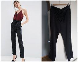 96320921355f Eleganckie czarne spodnie wiązane ASOS 7 8 Nowe!