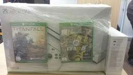 Xbox One S bundle includes 2 games and 2 Controllers.Brand New