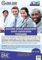 Customer Service Management Expert Certification Programme