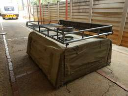 Canvas Canopy And RoofRack for Mazda /Ford Bakkies