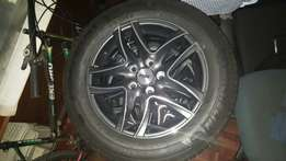 4x two tone mags - 5hole Variable PCD and Michelin 205/60 16 tyres