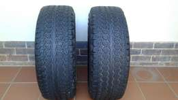 2 Goodyear Tyres 265-70R-16 For Sale + 1 Toyota Fortuner Mag 16inch