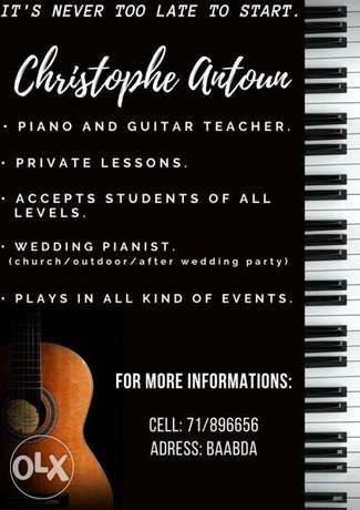 Piano and guitar private lessons