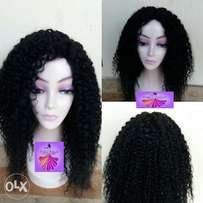 Curly human hair wig